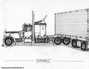 Custom Peterbilt Truck Drawings