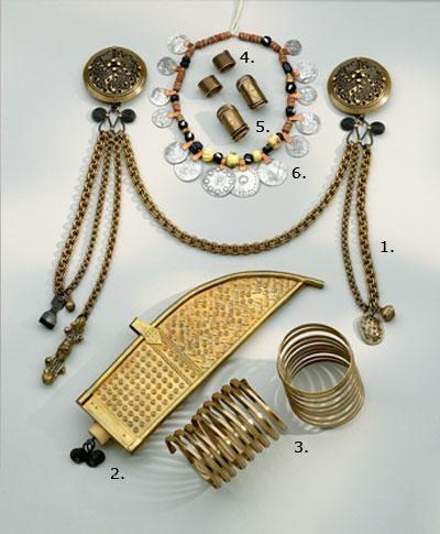 Kalevala Koru replica jewelry for Eura dress, Finland.