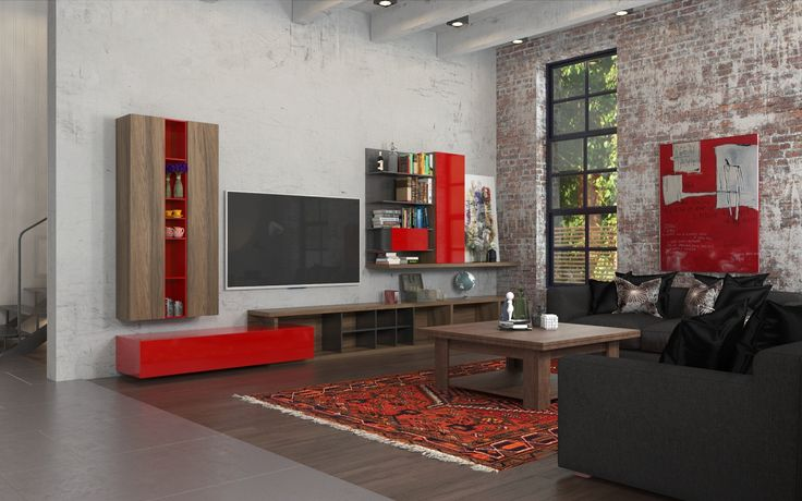 Industrial Element  Family Area on 1st  Floor Soft Relaxing Area