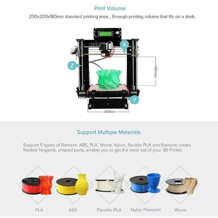 Geeetech Acrylic I3 Pro B DIY 3D Printer Supports 5 Filaments Large Printing Volume High Precision