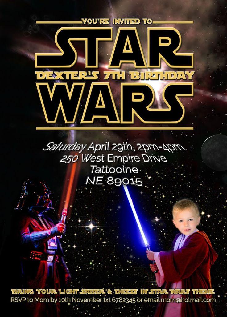 ÜCRETSİZ Çocuk Parti Davetiyeleri: Star Wars Partisi Davet (self-edit)