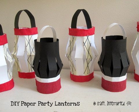 Craft, Interrupted: Ninja Party Paper Lantern Decor