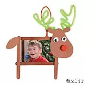 Craft Stick Reindeer Picture Frame Christmas Ornament Craft Kit