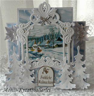 Monis-Kreativallerlei, Christmas card, Marianne Design dies