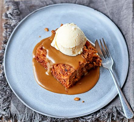 The parsnip makes the pudding extra light and soft – much like a carrot cake. Its earthy sweetness works wonderfully with the glossy caramel sauce