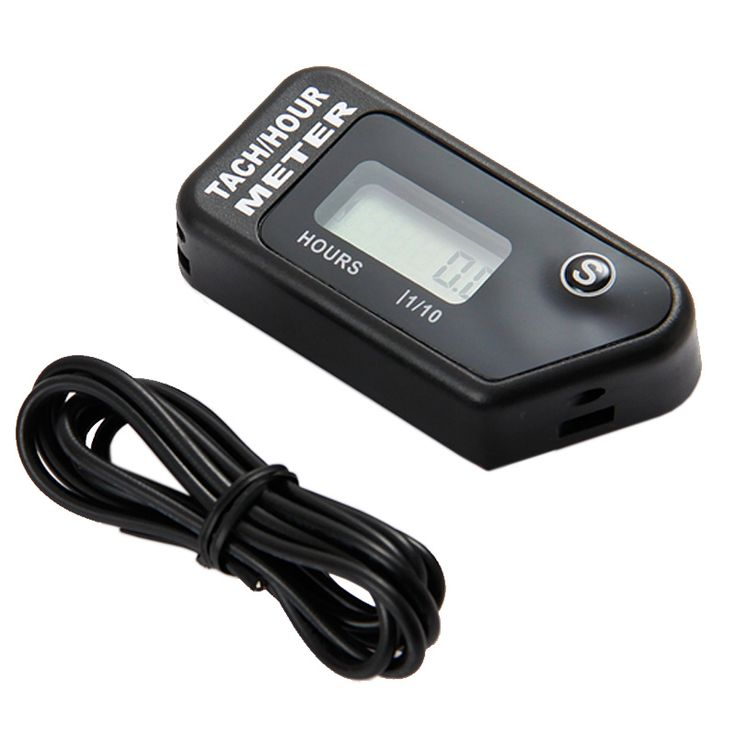 Digital Hour Meter Tachometer for Outboard Motor Lawn Mower Motocross motorcycle marine chainsaw pit bike