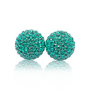 Sparkle Ball Stud Earrings in Emerald by Hillberg & Berk