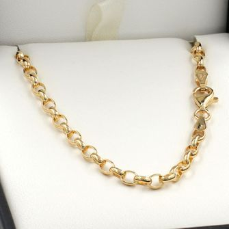 Buy our Australian made 40cm Yellow Gold Oval Belcher Chain Necklace - GN-BO2…