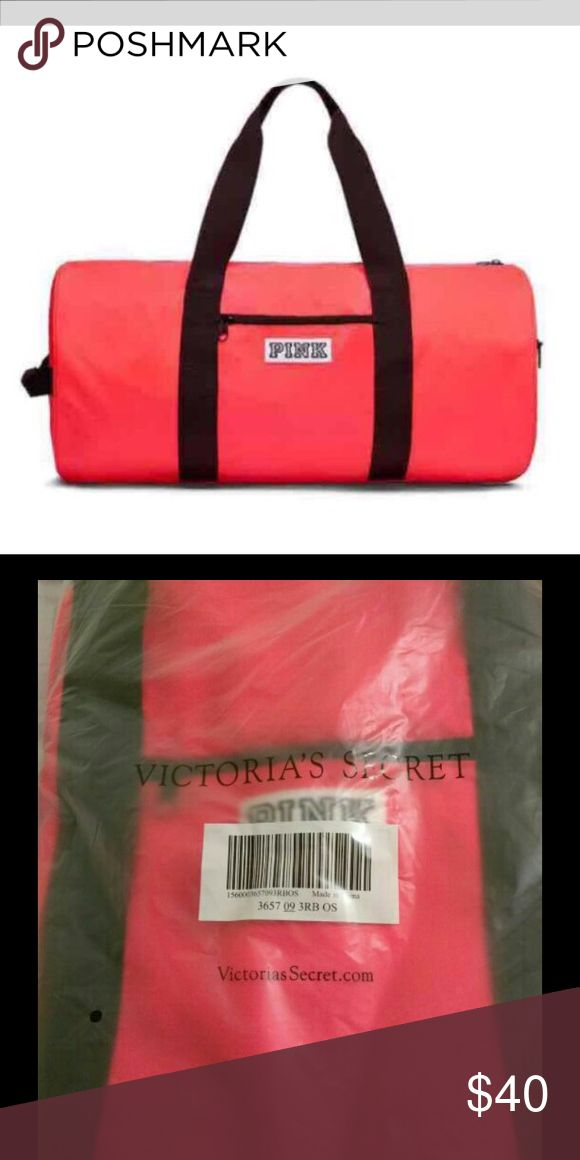 DUFFLE BAG CORAL FROM PINK Brand New  Authentic  With NO Tags inside online packaging  Fees Included in price  Look at pictures please  Thank you PINK Victoria's Secret Bags Travel Bags