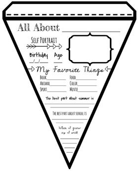 This freebie is great for first days of school and star students.  I will be using this on the first day and then displaying on a bulletin board.  Have fun!