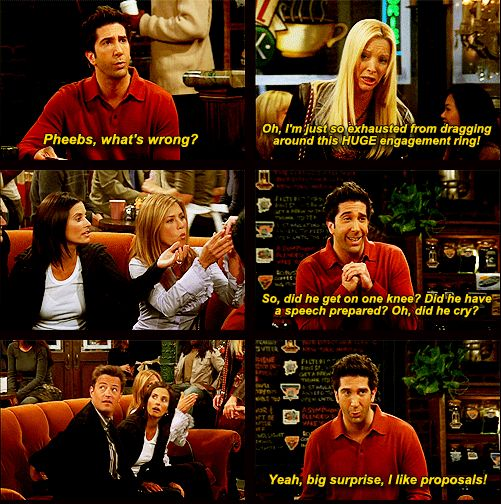 love phoebe and mike also love ross and marriage!