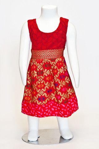 batik dress, gold, printed dress
