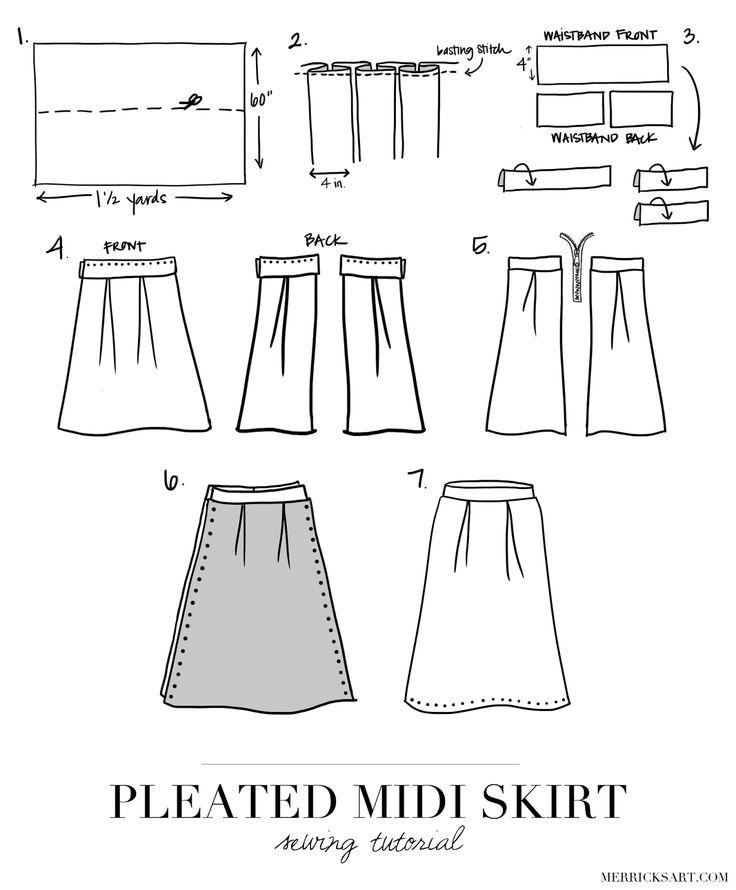 17 Best ideas about Pleated Skirt Tutorial on Pinterest | Pleated ...