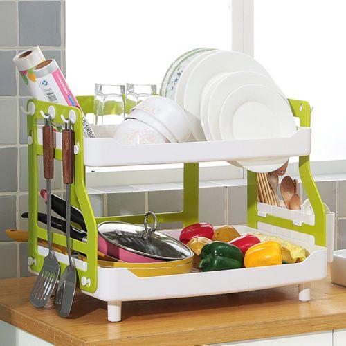 Kitchen-Dish-Drainer-Rack-Drying-Sink-Holder-Basket-Organizer