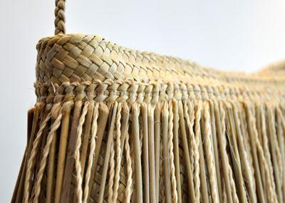 Addie Wainohu Kura Gallery Maori Art Design Aotearoa  New Zealand Raranga Weaving Kete Piupiu Whakairo Large Natural