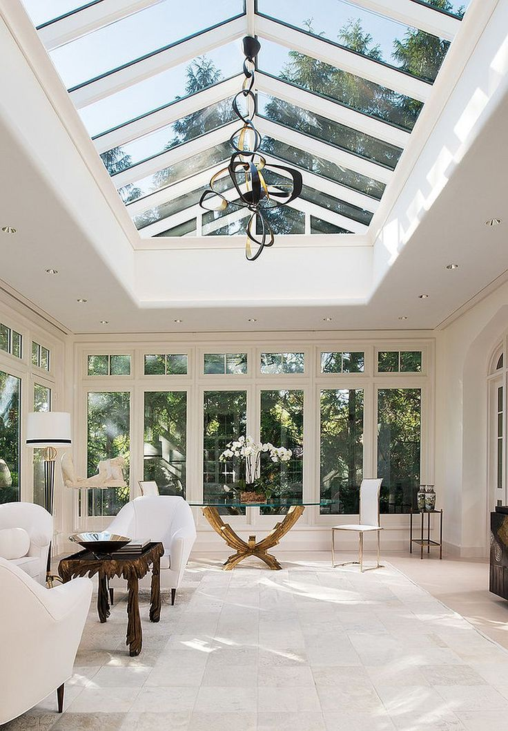 Stylish and elegant #Scandinavian designed #sunroom with plenty of open space to enjoy
