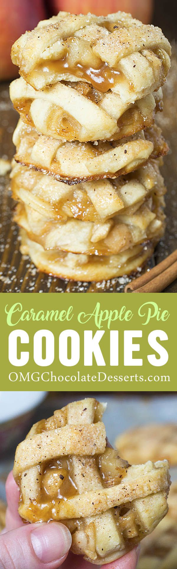 Easy Apple Pie Cookies are perfect cookies to make for Fall, Thanksgiving, or Christmas!
