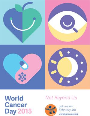 World Cancer Day 2015 poster: Not Beyond Us
