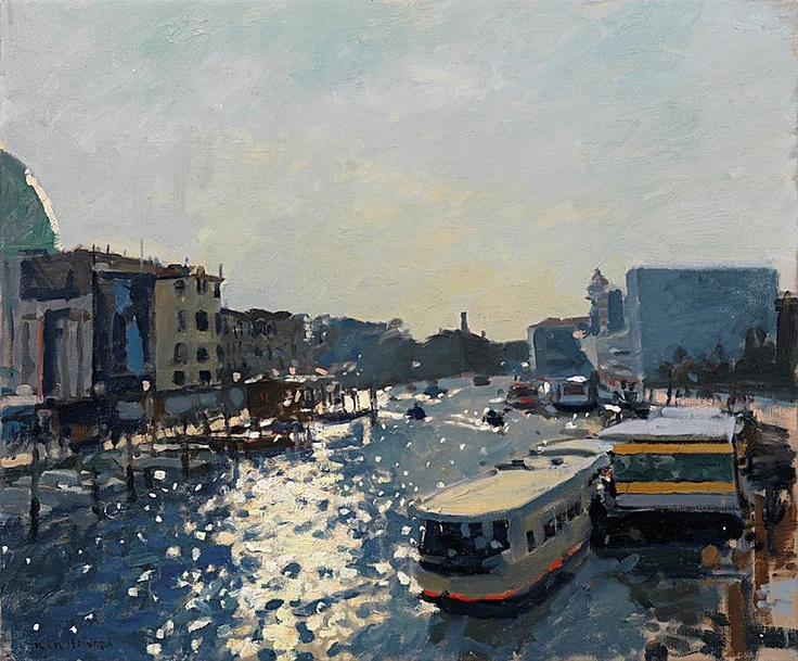Professor Ken Howard OBE RA - Late afternoon light effect, Venice