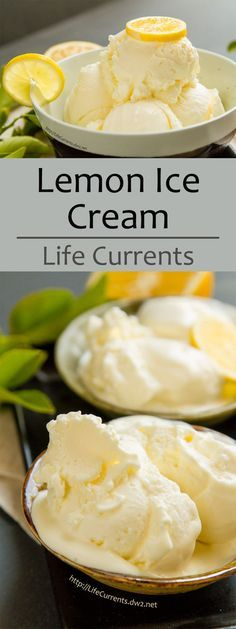 Lemon Ice Cream ~ A custard-based ice cream, so thick and rich and creamy. Luscious! Perfect for summer!
