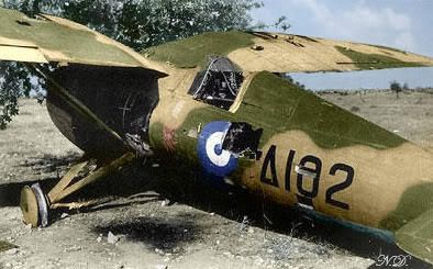 damaged greek PZL P24