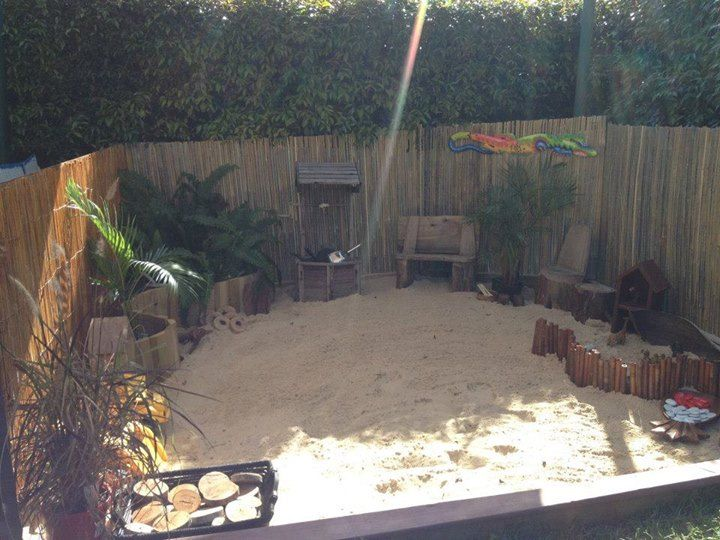 "Love this sand area at Puzzles Family Day Care ("",)"