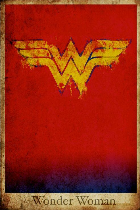 Wonder Woman retro poster minimalist poster movie print comic book art poster print 11x17 Justice League. $19.00, via Etsy.