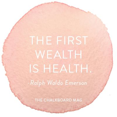 The first wealth is health. -Ralph Waldo Emerson #quote #inspiration #health