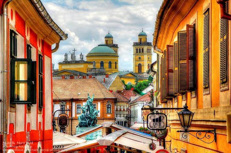 Rooftop scene,Eger, Hungary
