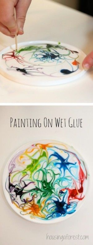 Makes a pretty sun catcher! -- 29 of the MOST creative crafts and activities for…