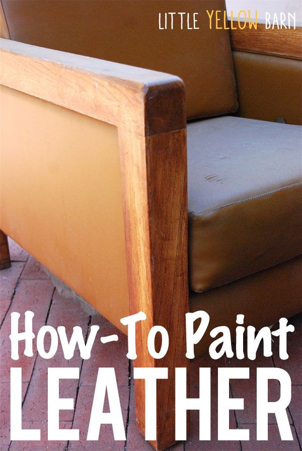 Tips on how to paint leather or vinyl. Have any pieces in your house you wish you could reupholster? Try painting them instead.