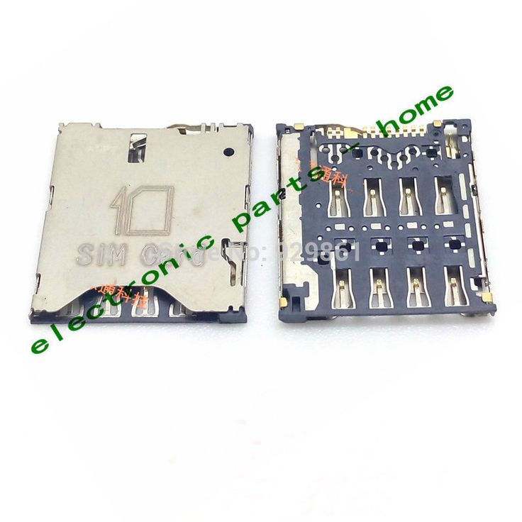 wholesale 5PCS/LOT Original new sim card reader holder Slot contact module for Alcatel one touch idol X OT-6040 6040 6040D Moible phone|05e7e8e0-9489-4bf6-8da9-457ccdf99712|Adapters
