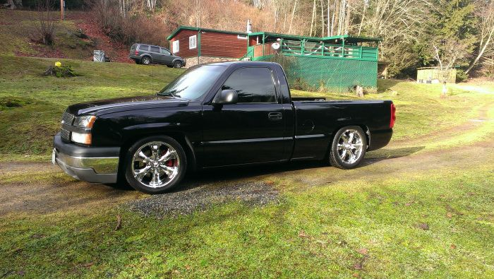 2003 Silverado lowered out in Stanwood WA