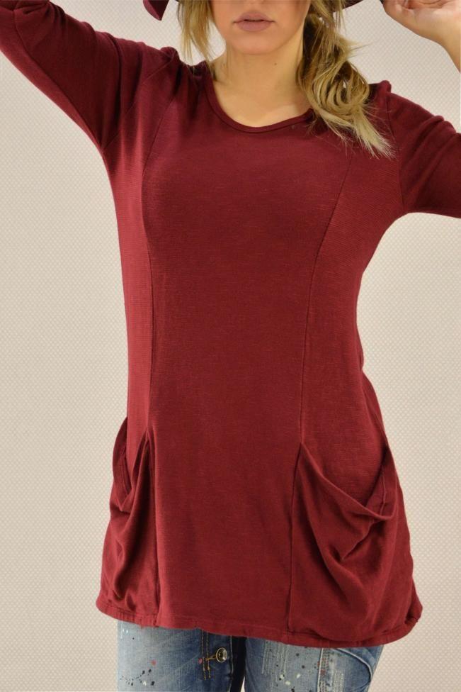 Γυναικεία μπλούζα πλέκτη  MPLU-0767-bu  Πλεκτά > Πλεκτά και ζακέτες