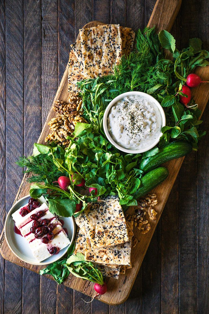 Persian Cheese and Herb Platter