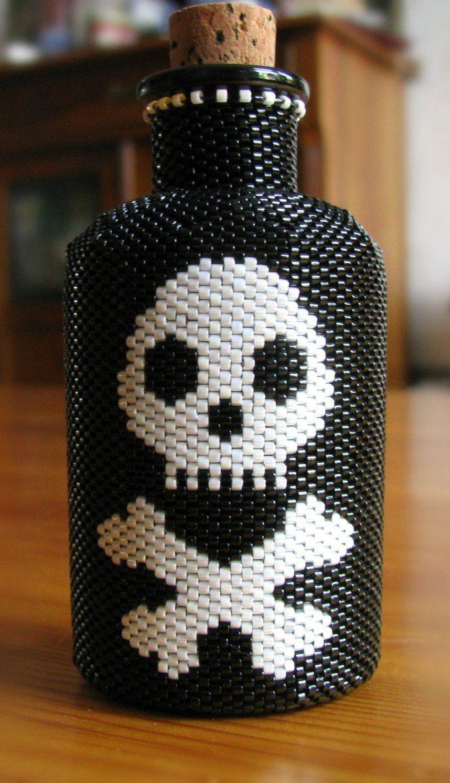 Beaded bottle by CatsWire