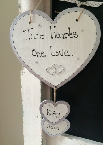 Hanging-heart-personalised-Wedding-Engagement-Anniversary-gift-plaque-sign