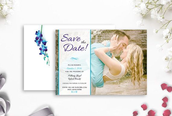 Photo Save the Date Dendrobium Orchid Save the by AldaleDesign