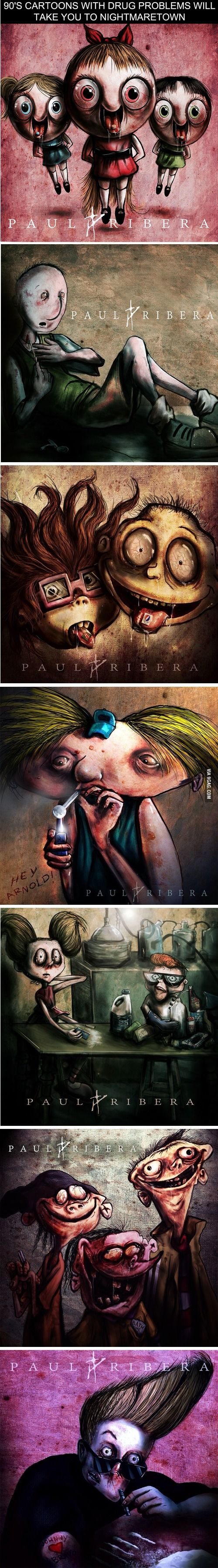 90's Cartoons With Drug Problems Will Take You to Nightmaretown