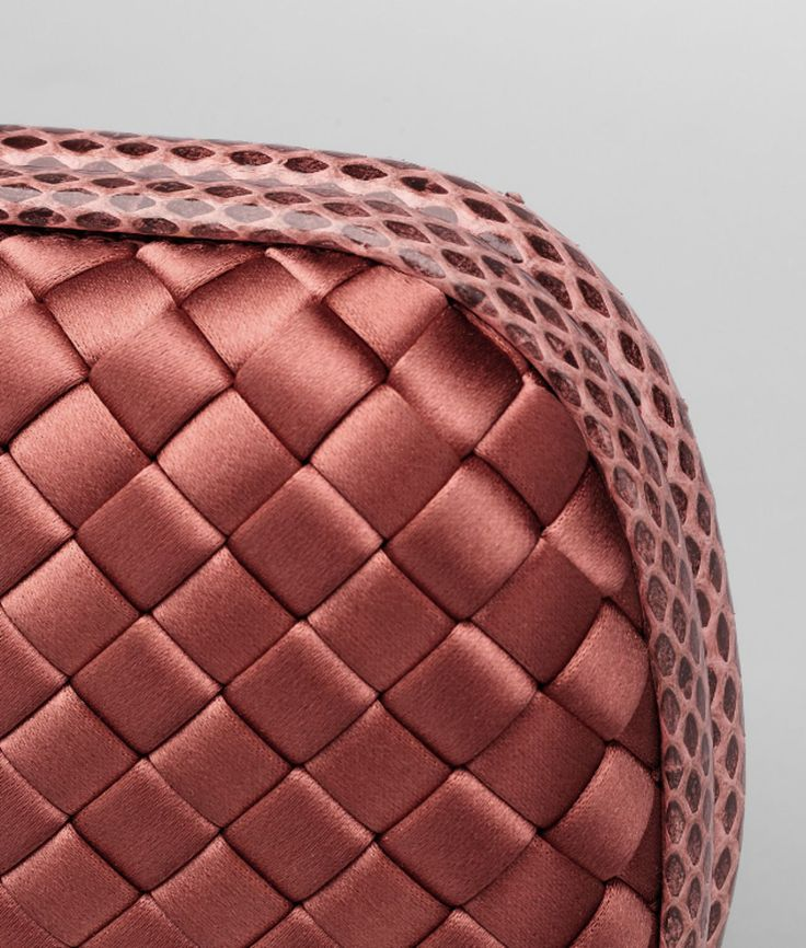 Pantone color for 2015, Marsala - Bottega Veneta Boucher Intreccio Impero Ayers Knot Clutch