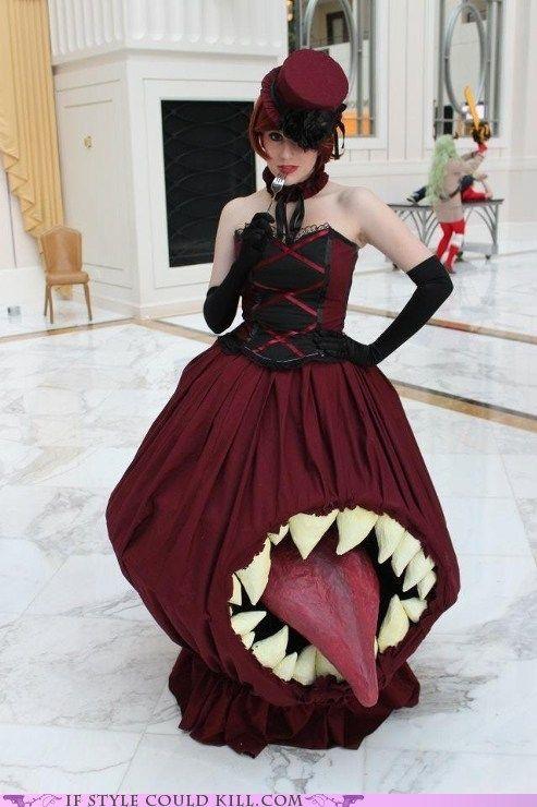 vestido língua de fora