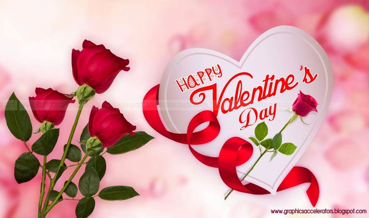 Happy-Valentines-Day-white-heart-with-roses-bud-greeting-card ...