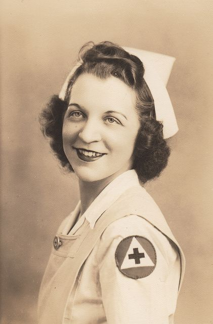 WWII Red Cross Volunteer Nurses Aide, via Flickr.
