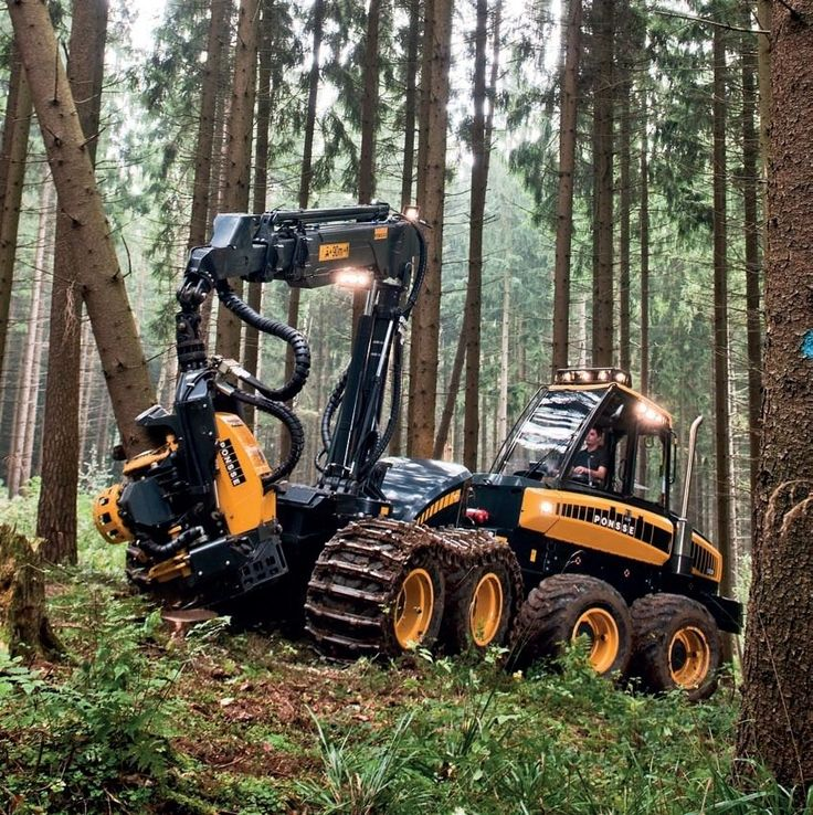 Wheeled forestry