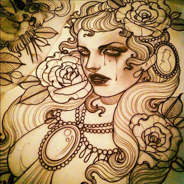 The tattoo sketches of Emily Rose Murray. - SUPERSONIC ART