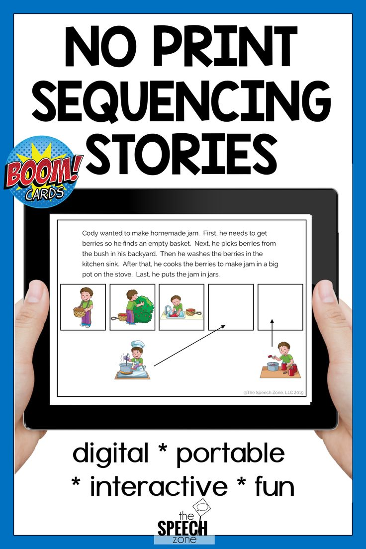 Boom cards sequencing stories speech and language