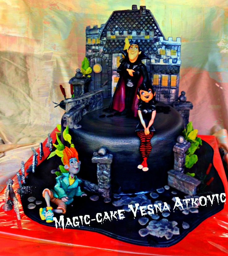 Hotel transylvania 1 cake for children pinterest for Hotel transylvania 2 decorations