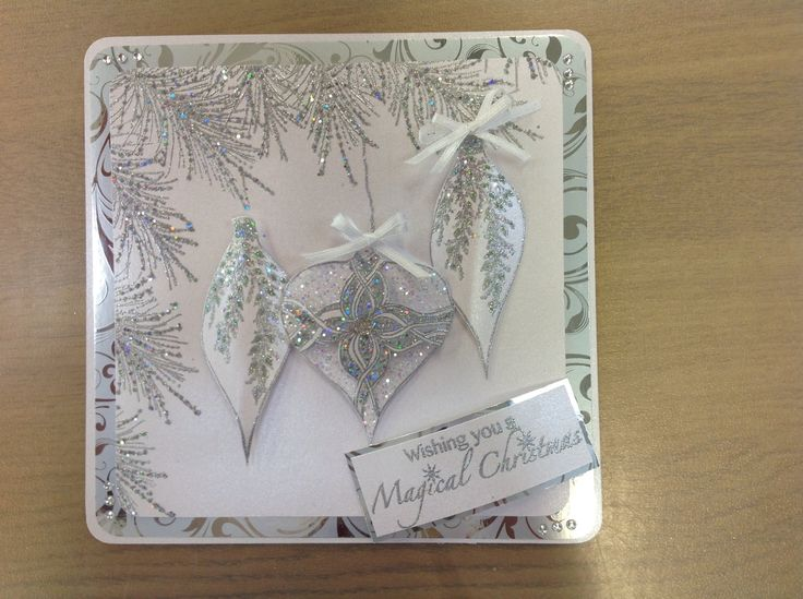 Using Stamps by Chloe Crystal Branch, vintage ornament, frosted ornament and magical christmas