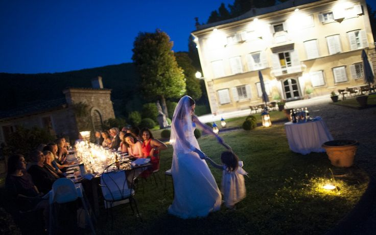 Intimate Outdoor Wedding Dinner in Lucca, Tuscany