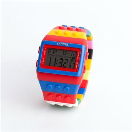 Brick Digital Watch - Red/Blue, Childrens Gifts